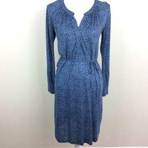 Boden Audrey Blue Dots Long Sleeve Dress Size 2